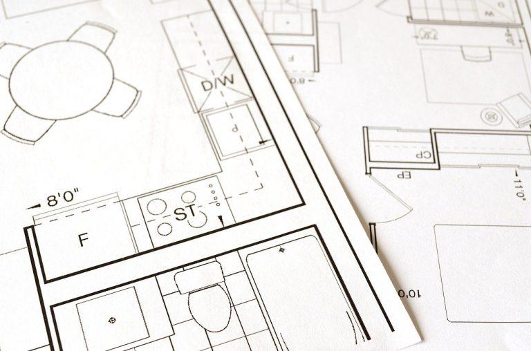 bespoke kitchen design floor plan, blueprint, house