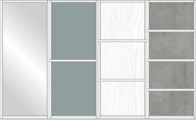 Sliding Wardrobe Doors - standard panel options