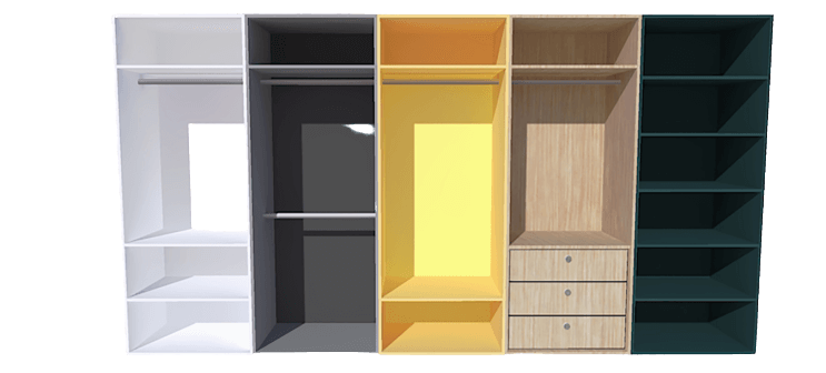 wardrobe internal storage options